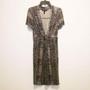 BCBGMAXAZRIA Snakeskin Print Dress
